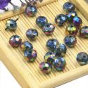 Beads, Selenial Crystal, Crystal, Multi colour AB, Faceted Discs, 8mm x 8mm x 6mm, 10 Beads, [ZZC115]
